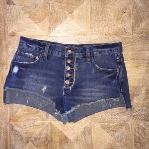 Free People Faded Runaway Slouch Cutoffs. Size: 25